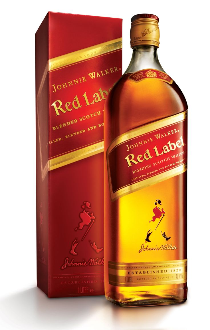 (W14) Johnnie walker red label whiskey