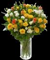 Fleurs d'Israël (f46) Bouquet de 40 roses colorées