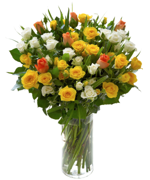 Israel Flowers (f46) 40 colorful roses bouquet