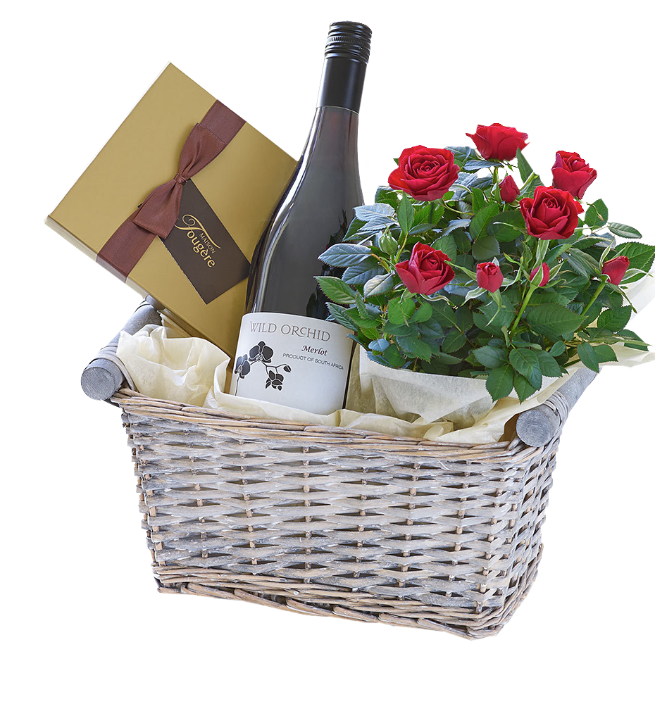Israel Chocolate Baskets (f45) Luxury Red Wine Gift Basket